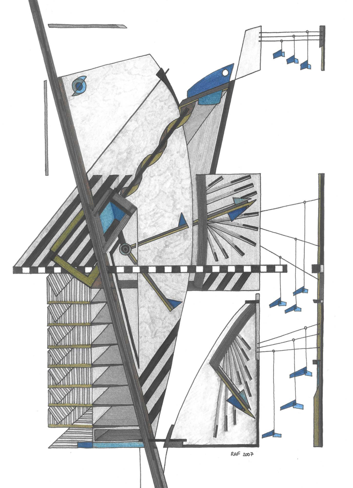 14h25, dessin, Raf Listowski, 2007