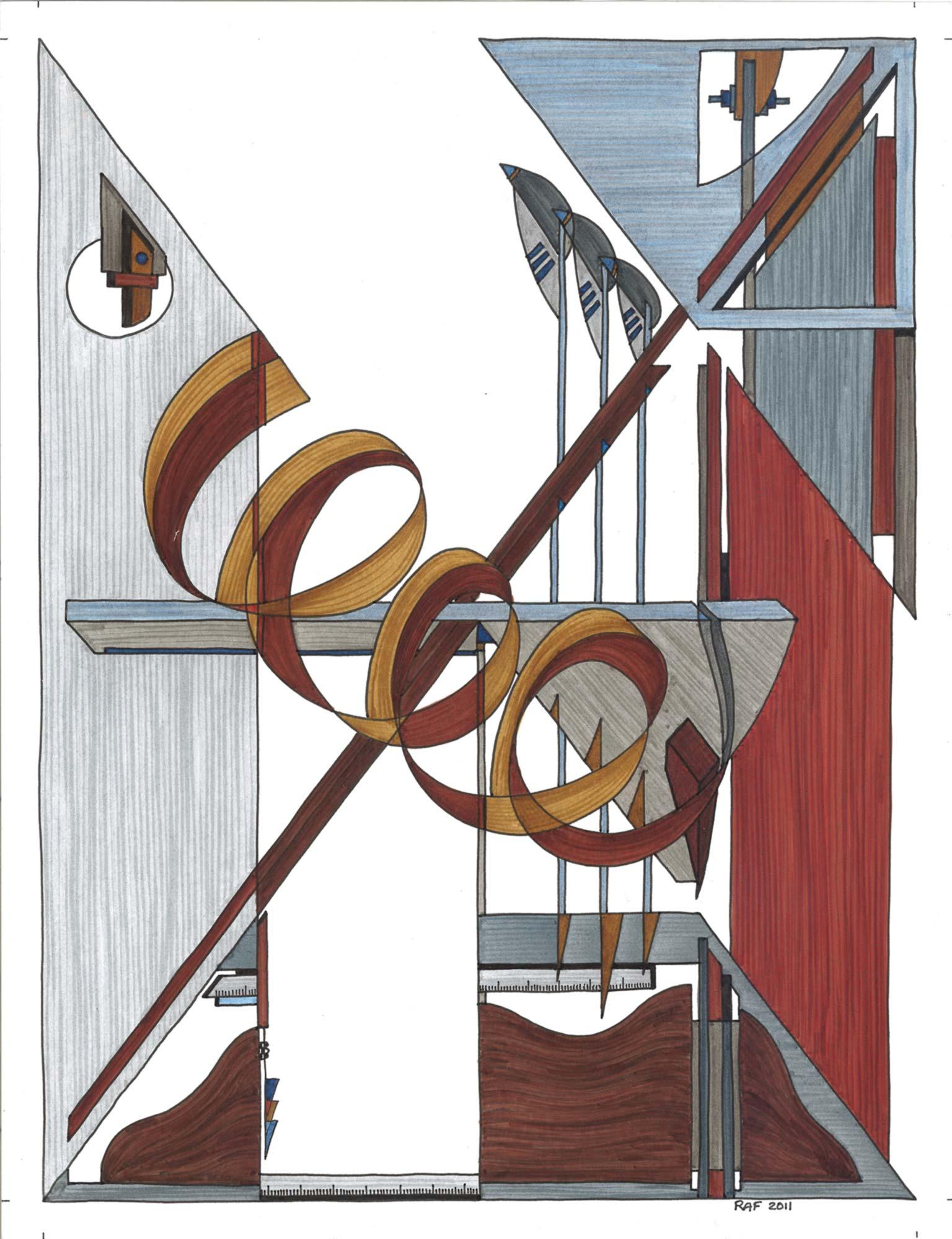 Sans titre, dessins, Raf Listowski, 2012