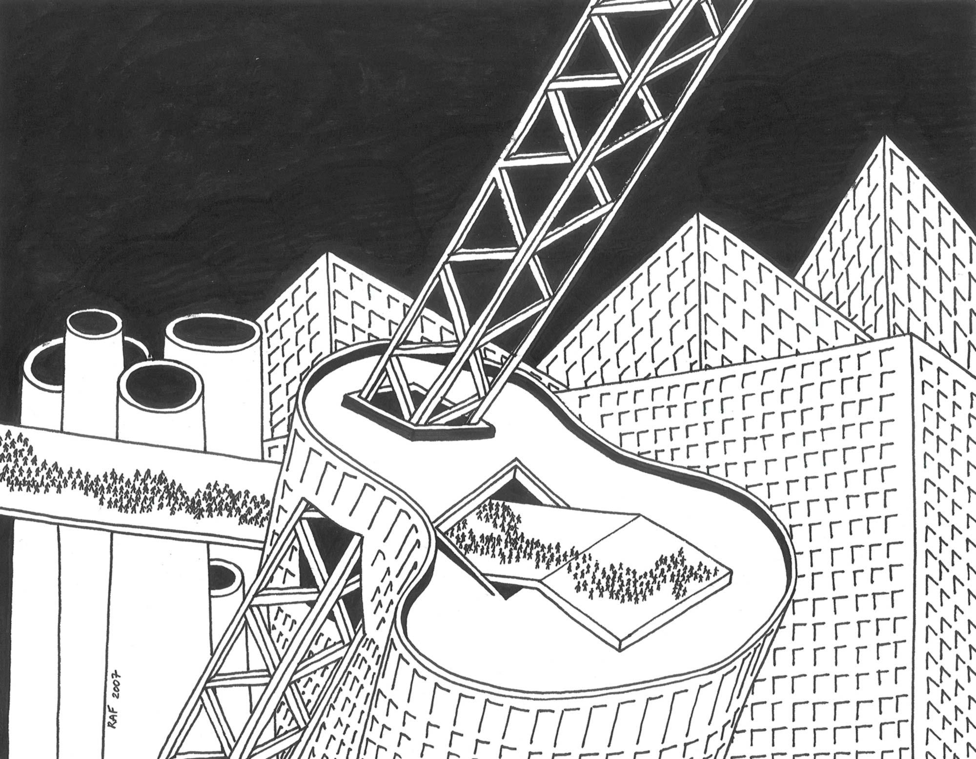 Chaos, dessin, Raf Listowski, 2007