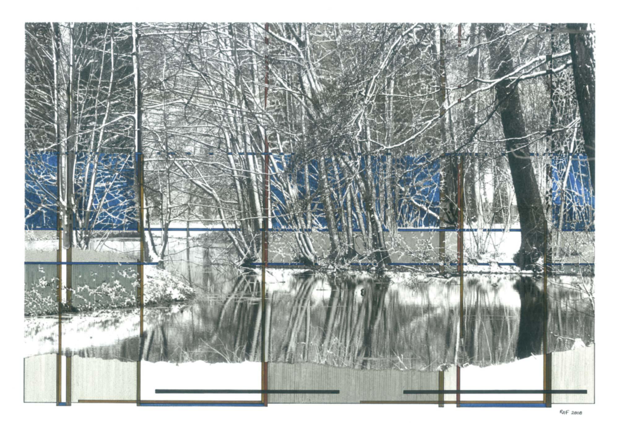 Composition I, dessin, Raf Listowski, 2008
