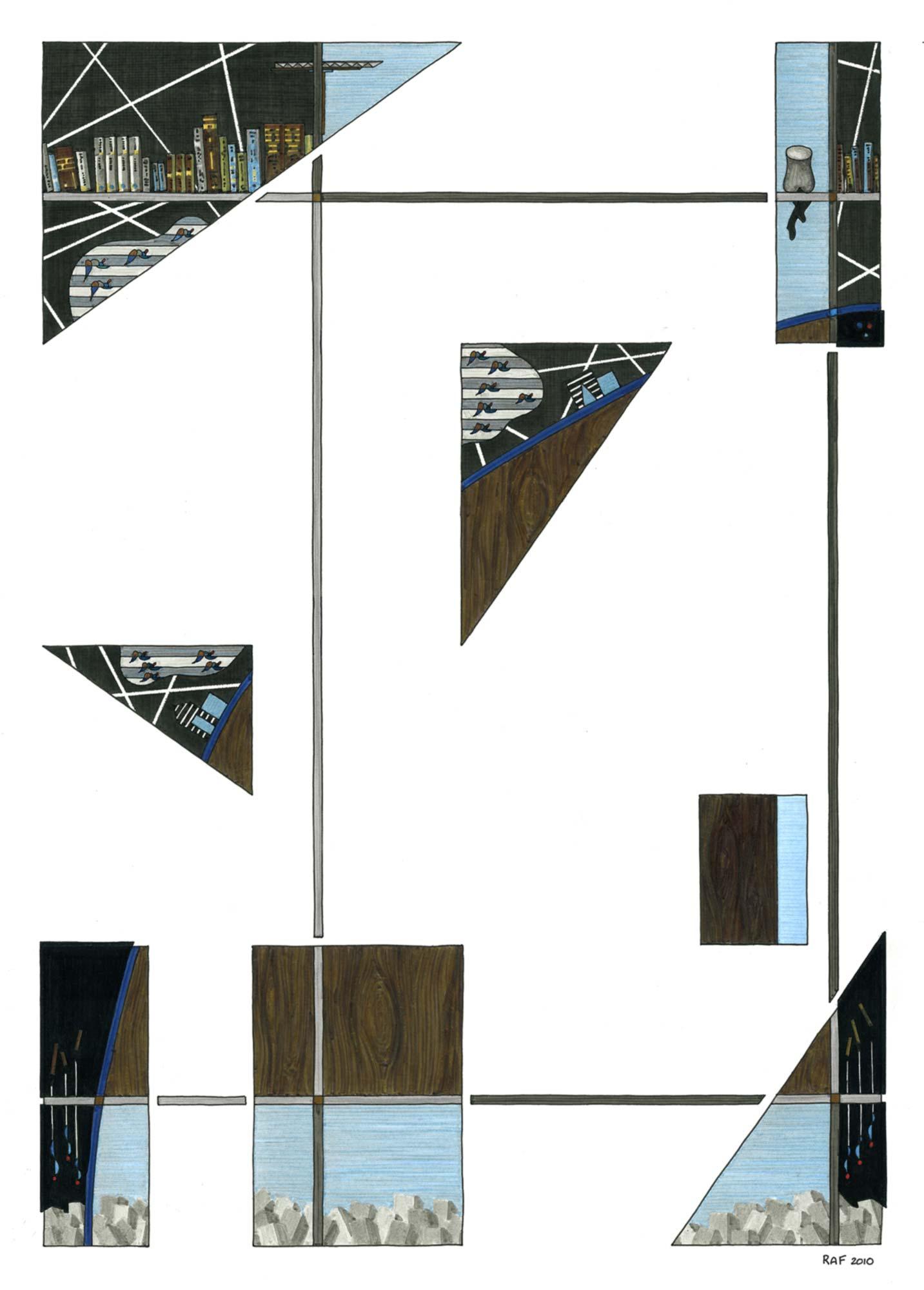 Fragments, dessin, Raf Listowski, 2010