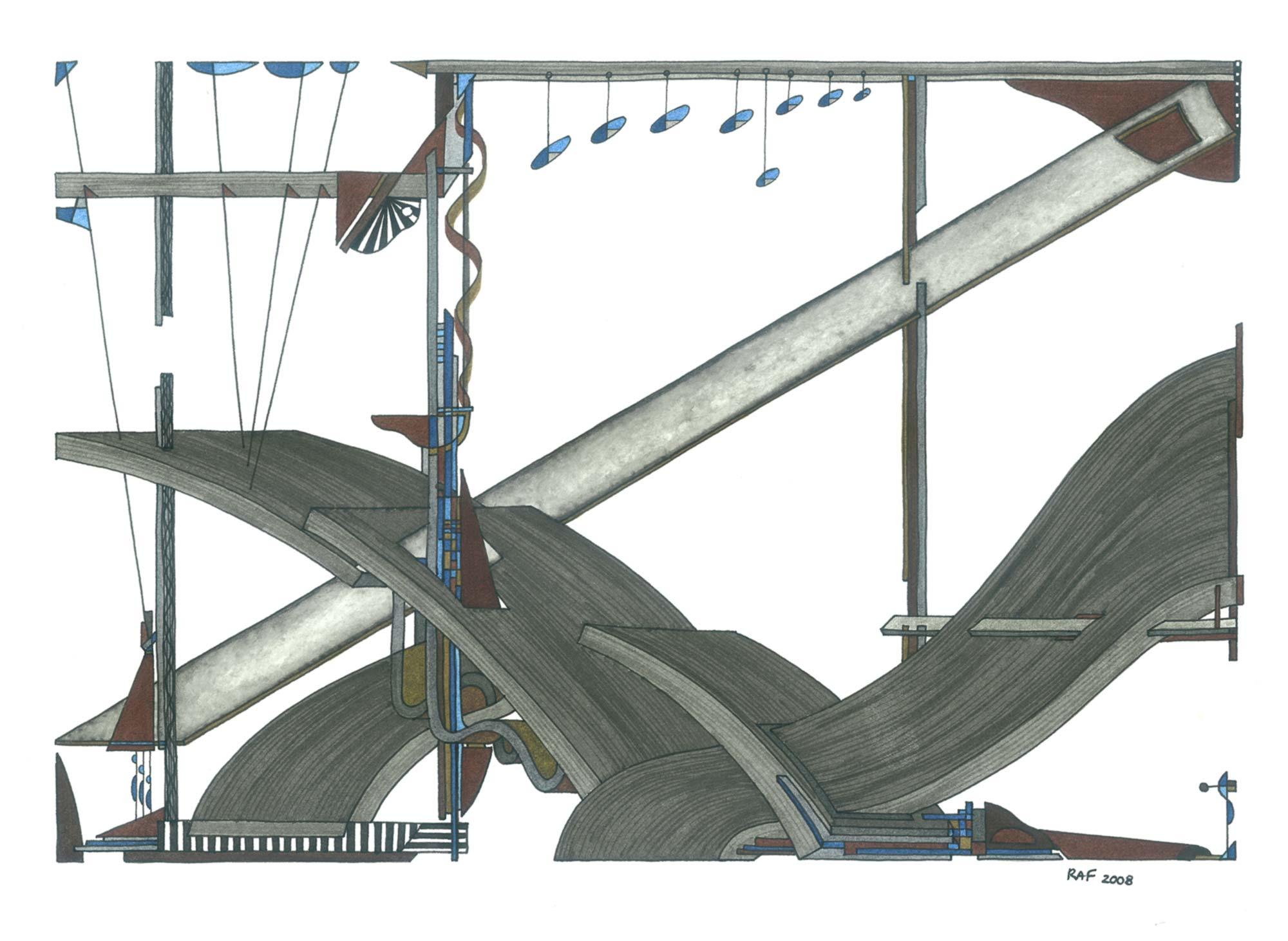 Imbroglio, dessin, Raf Listowski, 2008