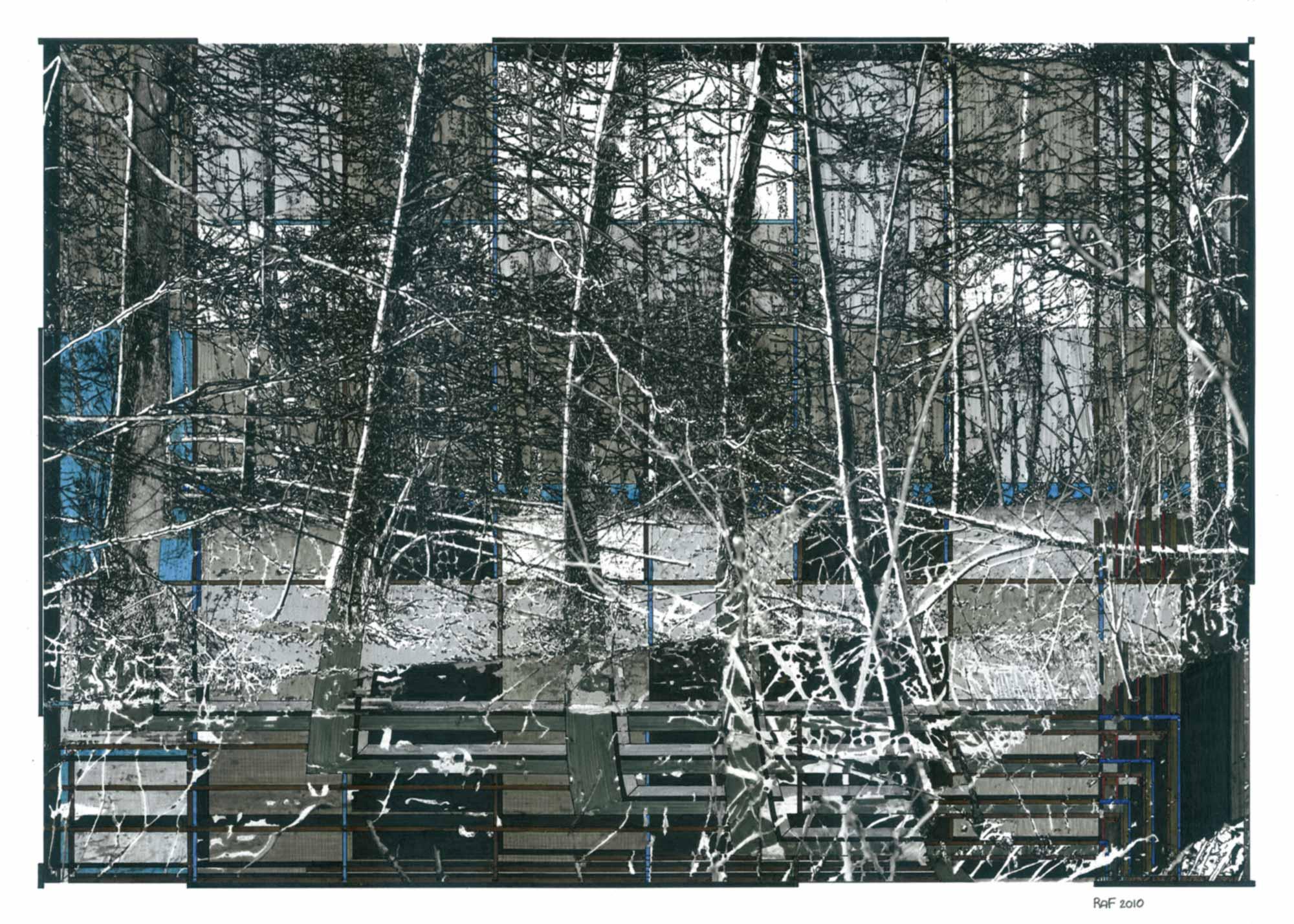 L'hiver, dessin, Raf Listowski, 2010
