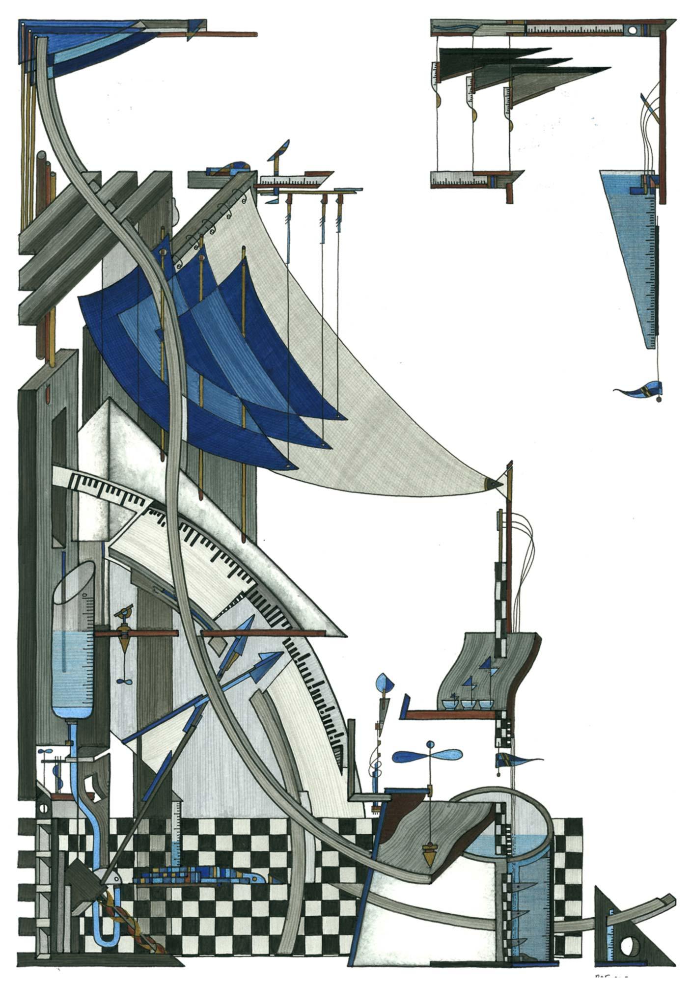 La fabrique, dessin, Raf Listowski, 2008