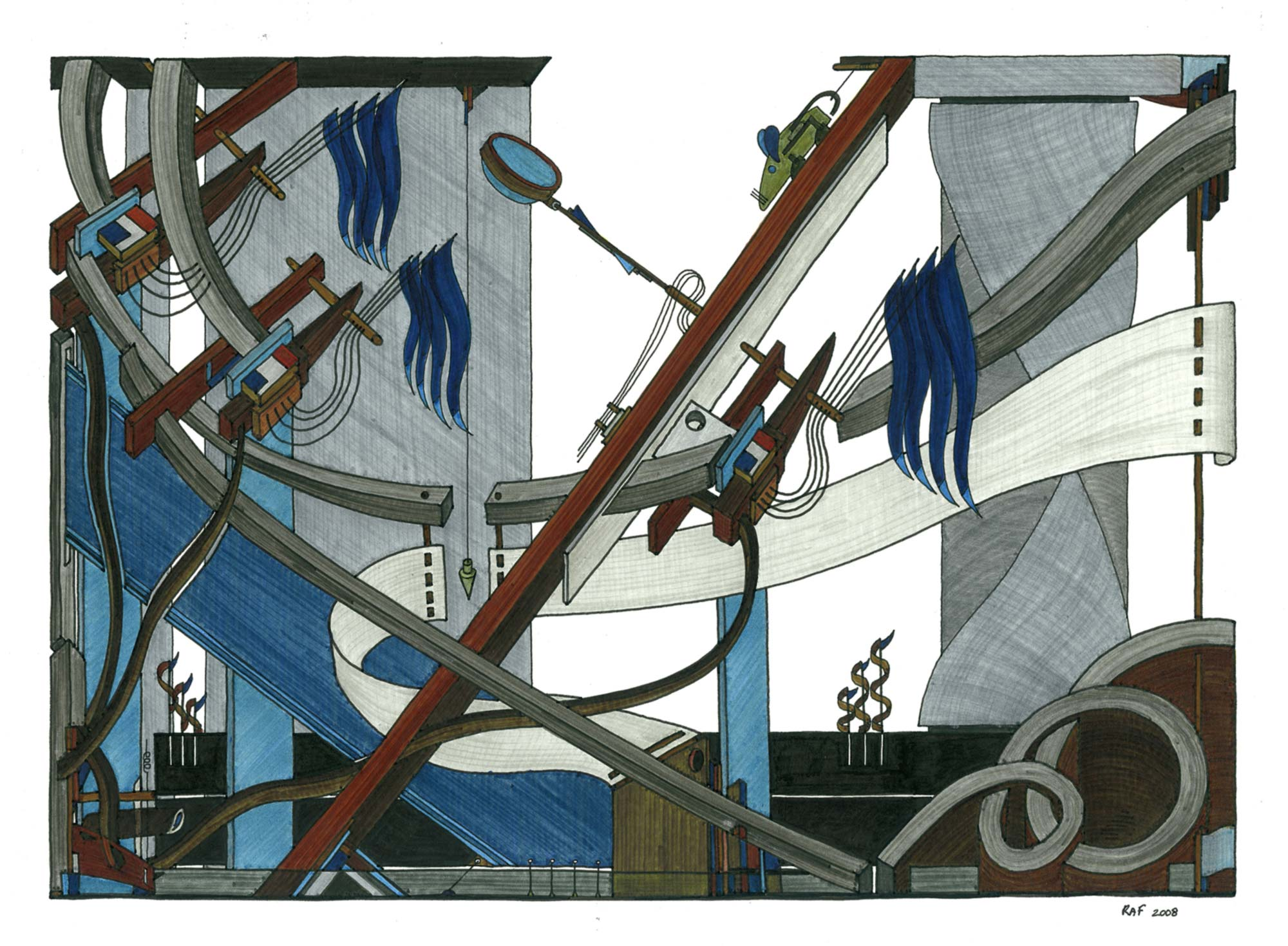 Le jouet, dessin, Raf Listowski, 2008