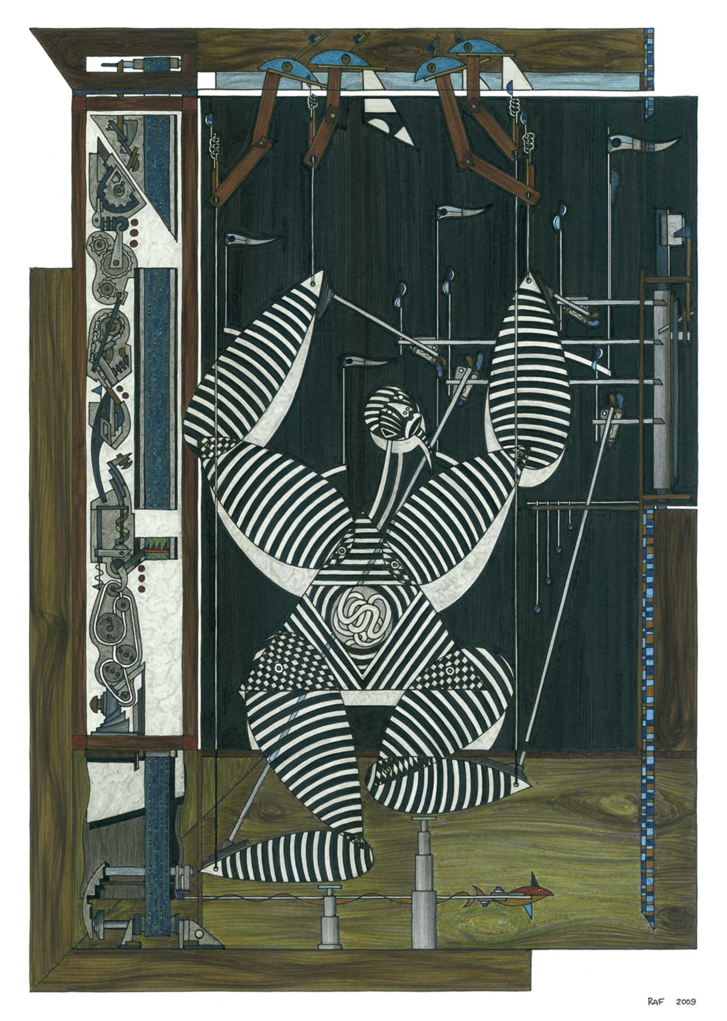 Le pantin, dessin, Raf Listowski, 2009