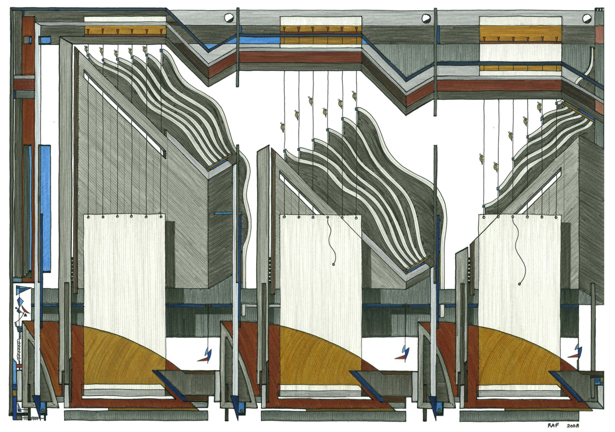 Lectures d'insectes, dessin, Raf Listowski, 2008