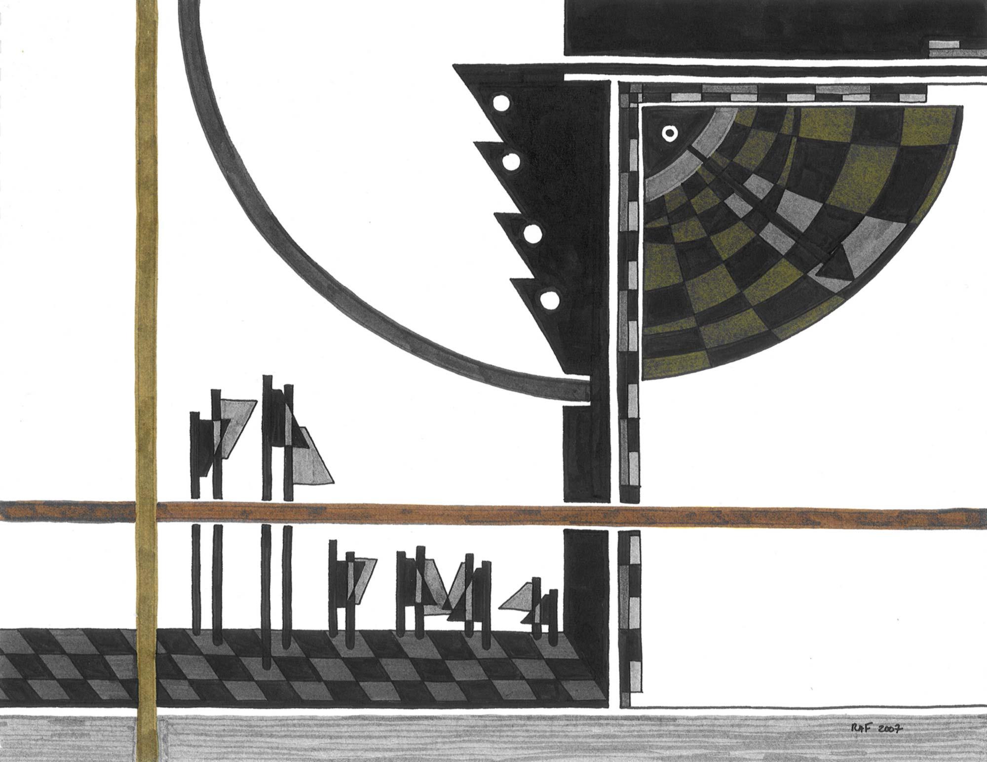 Manoeuvres, dessin, Raf Listowski, 2007