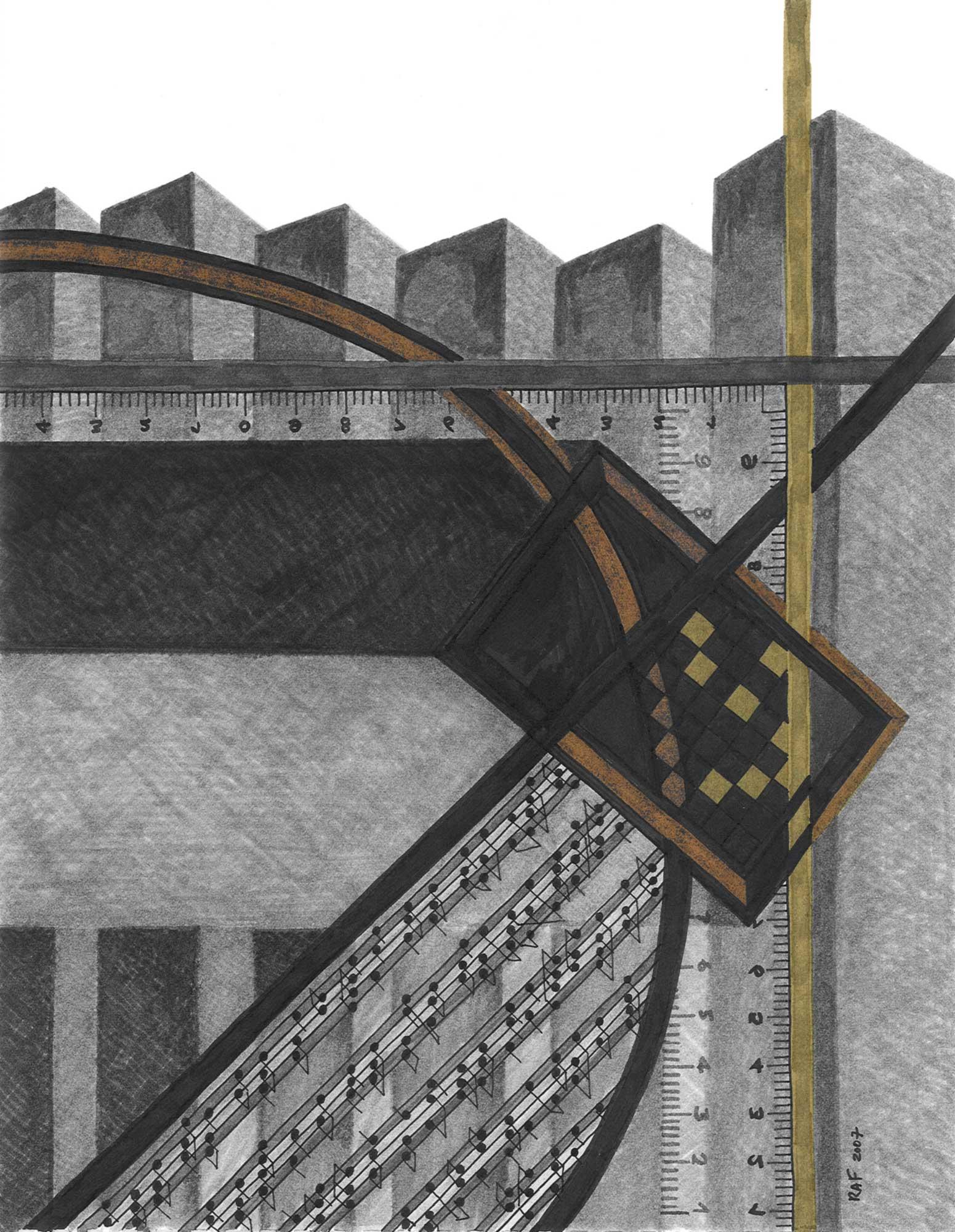 Metropolis, dessin, Raf Listowski, 2007