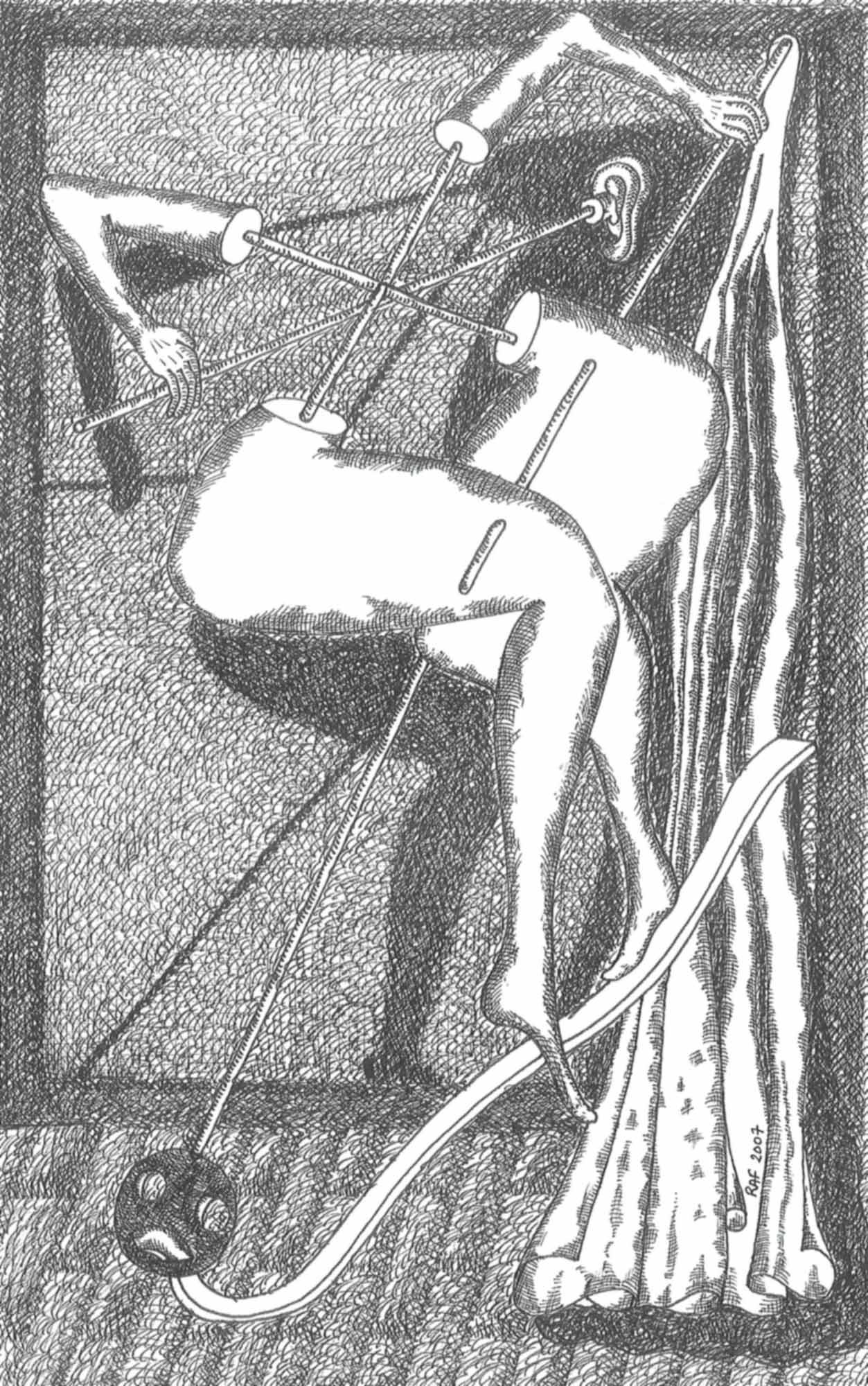 Pantomime, dessin, Raf Listowski, 2007