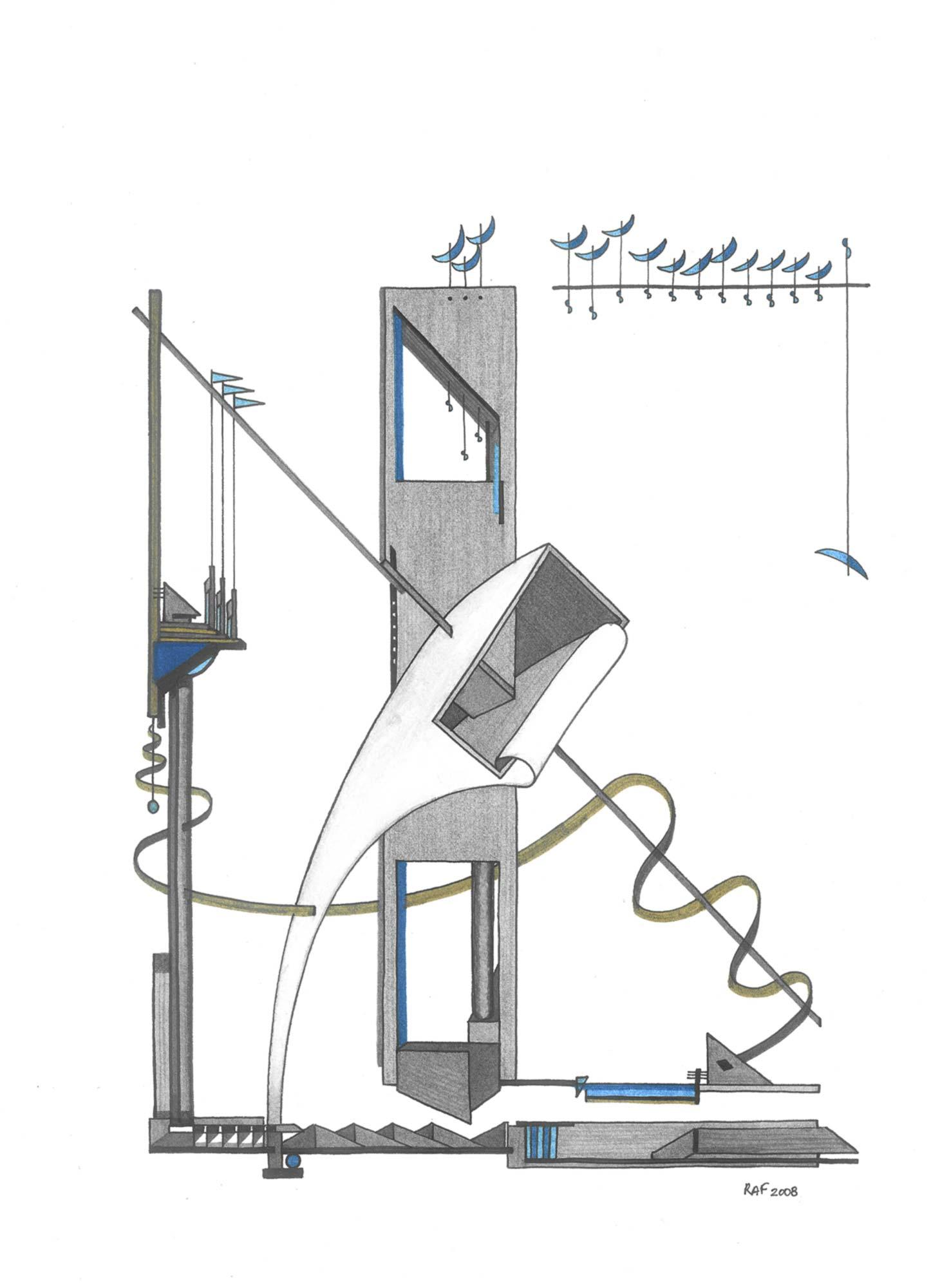 Prélude n°10, dessin, Raf Listowski, 2008