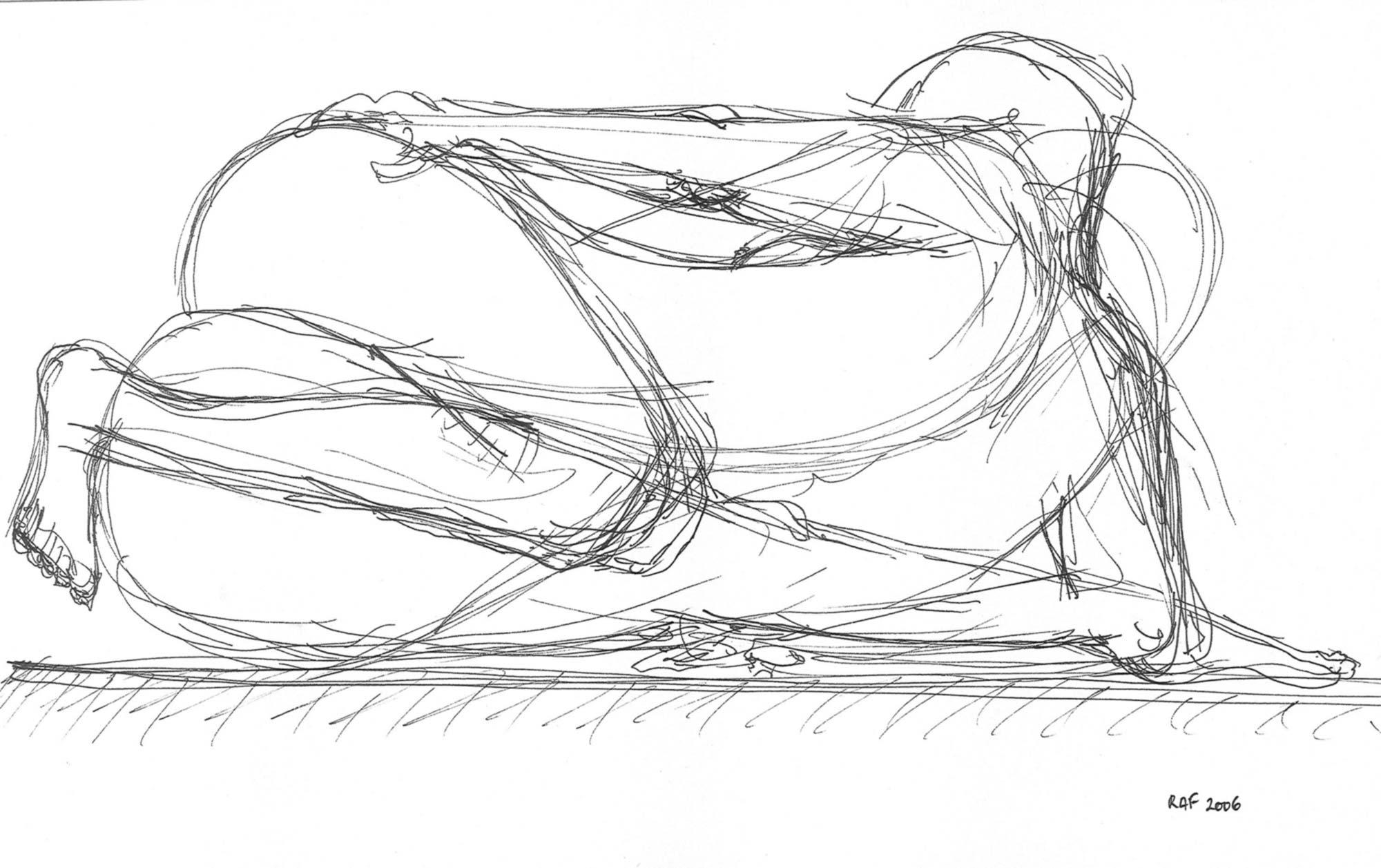 Sans titre 5, dessin, Raf Listowski, 2006