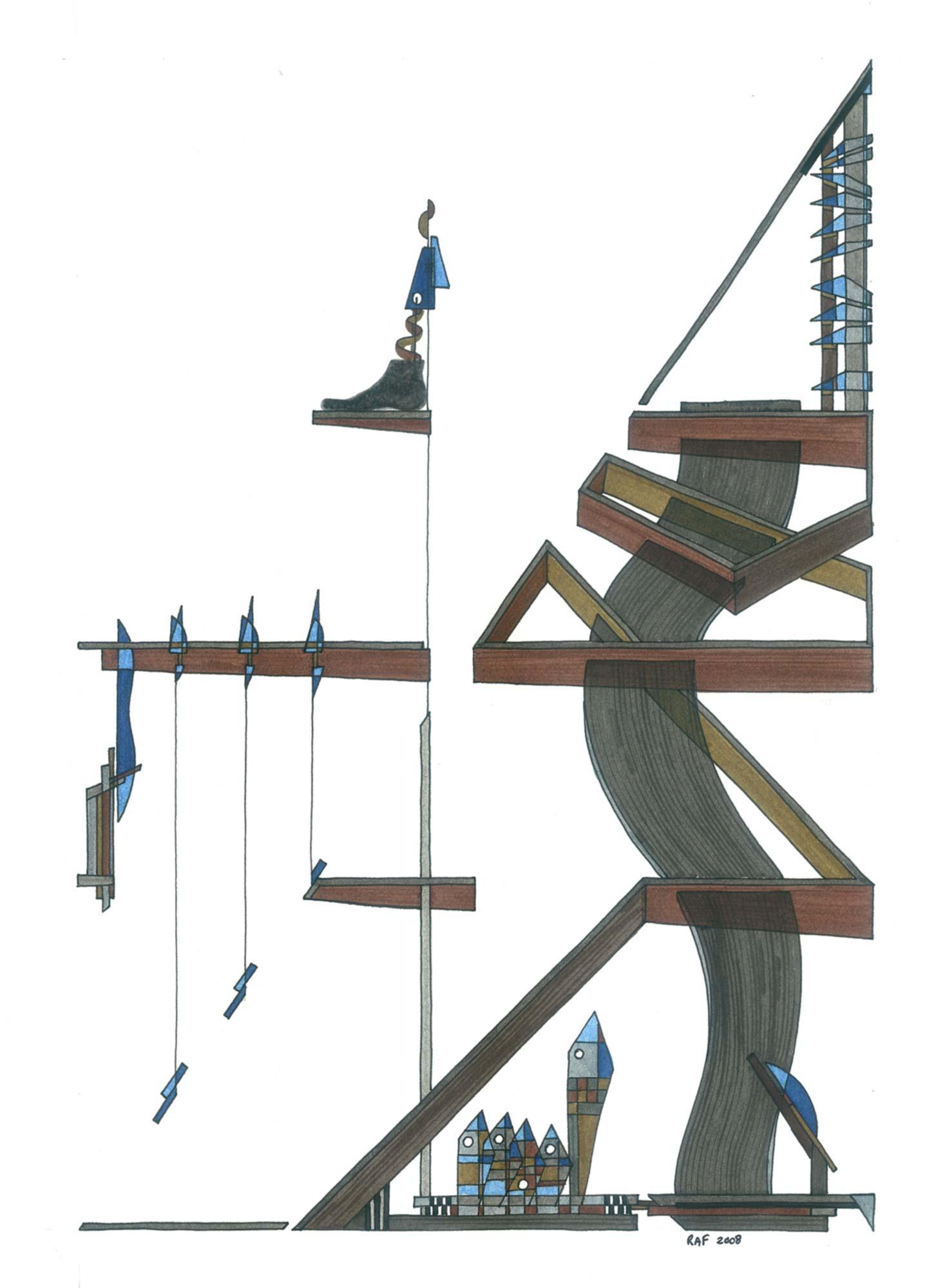 Simplification, dessin, Raf Listowski, 2008