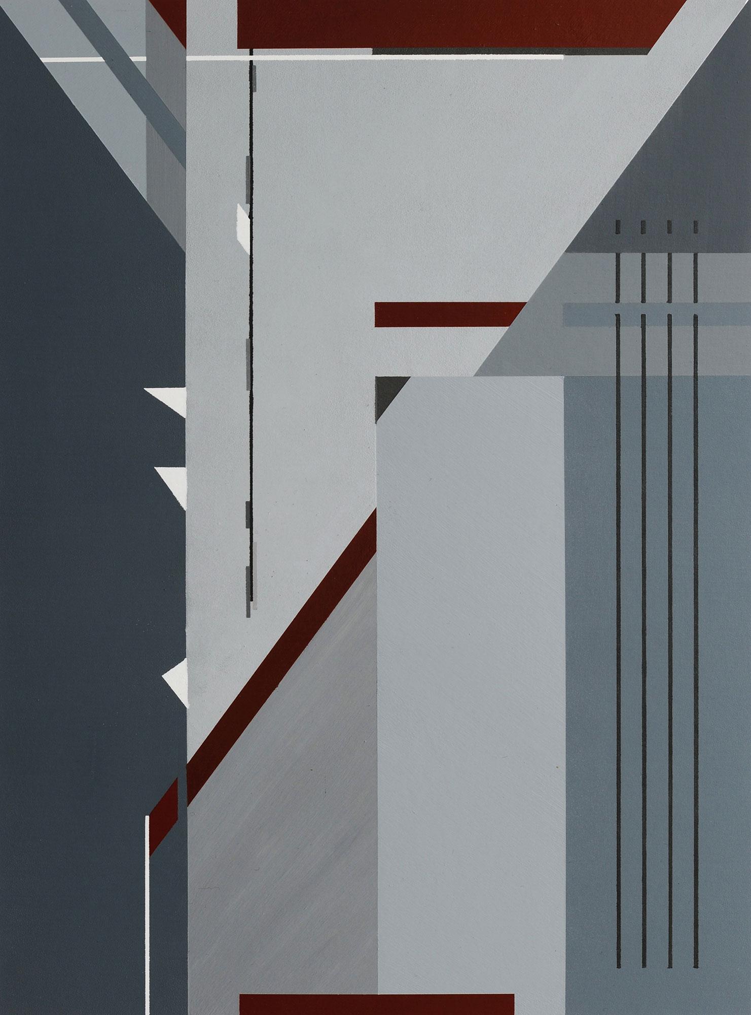 Derrière, 2011, peinture acrylique sur carton, 40x29 cm