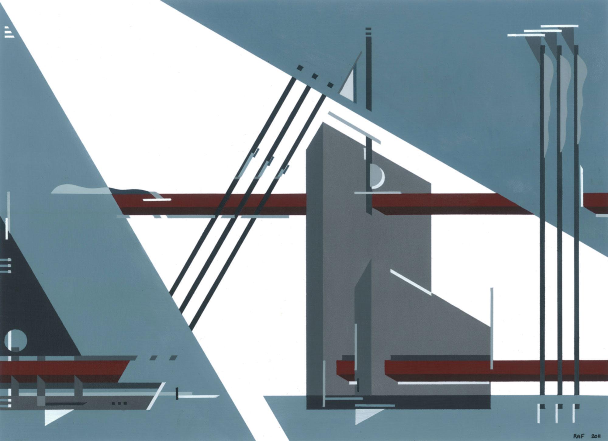 Fragment d'espace, 2011, peinture acrylique sur carton, 40x29 cm