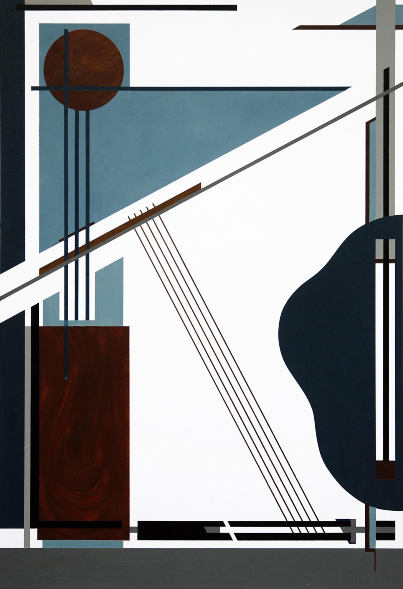 L'instrument, 2011, peinture acrylique sur carton, 40x58 cm