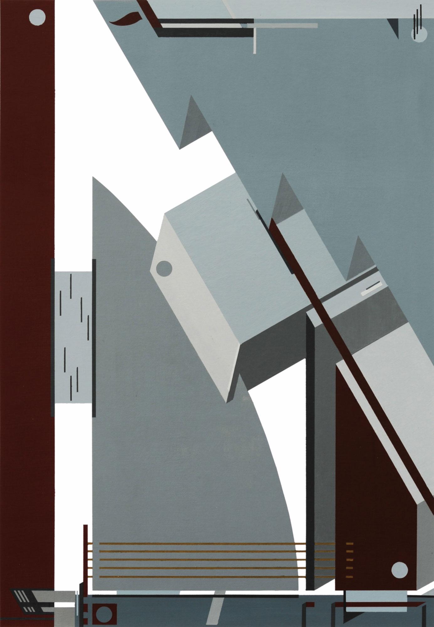 L'usine, 2011, peinture acrylique sur carton, 40x58 cm