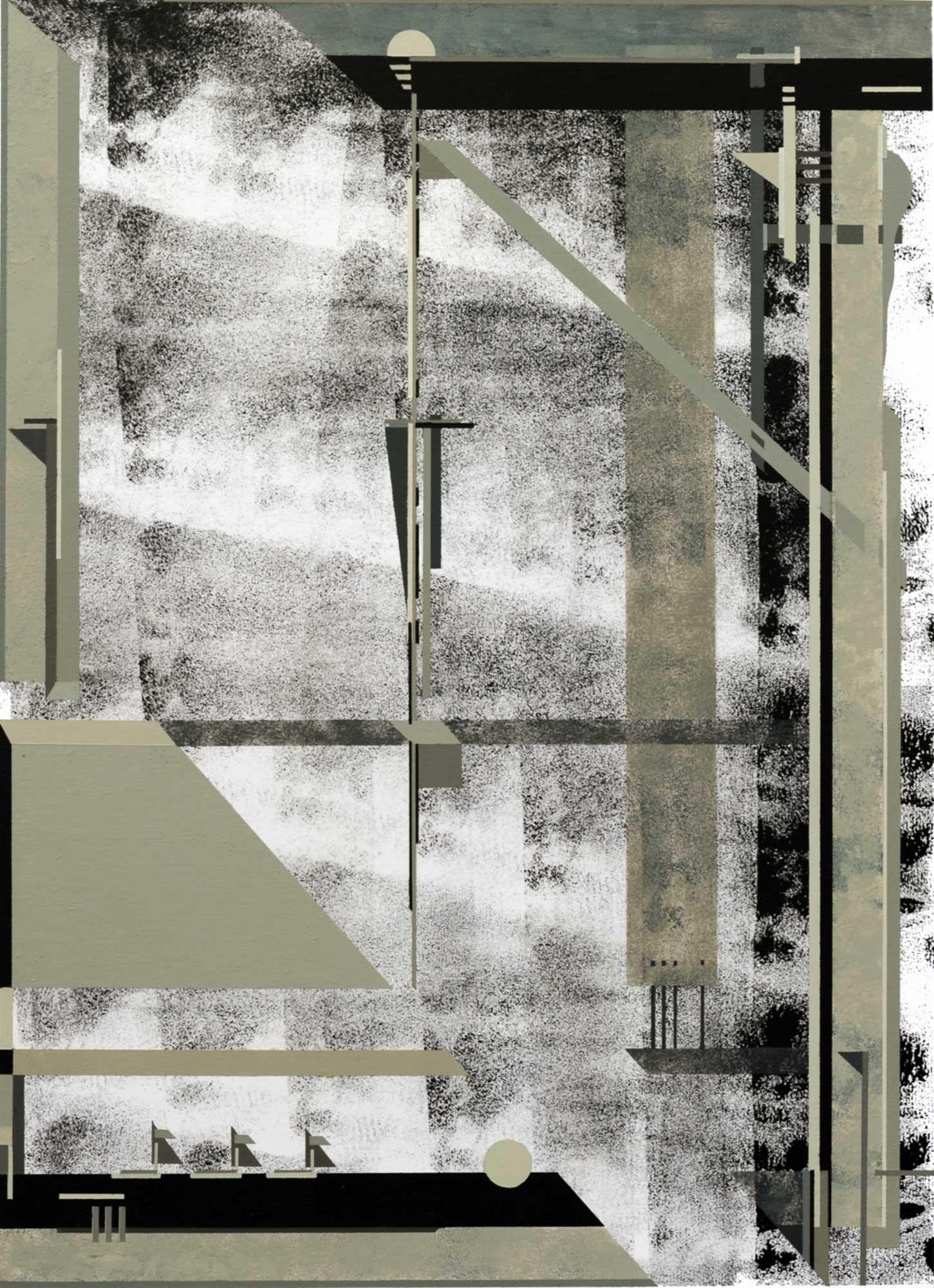 Ténèbres, 2011, peinture acrylique sur carton, 29x40 cm