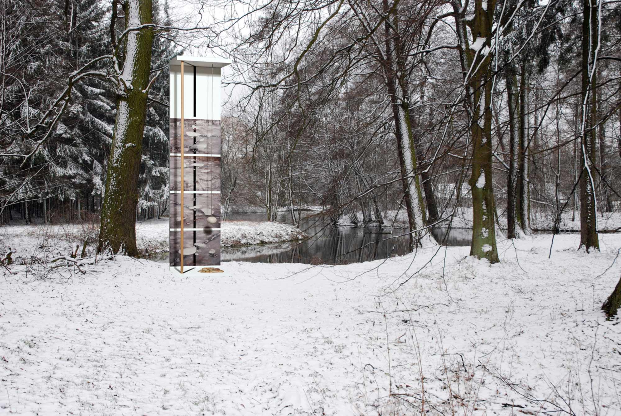 Raf Listowski Atelier d'Architecture art sculpture au dessus du vide 2009