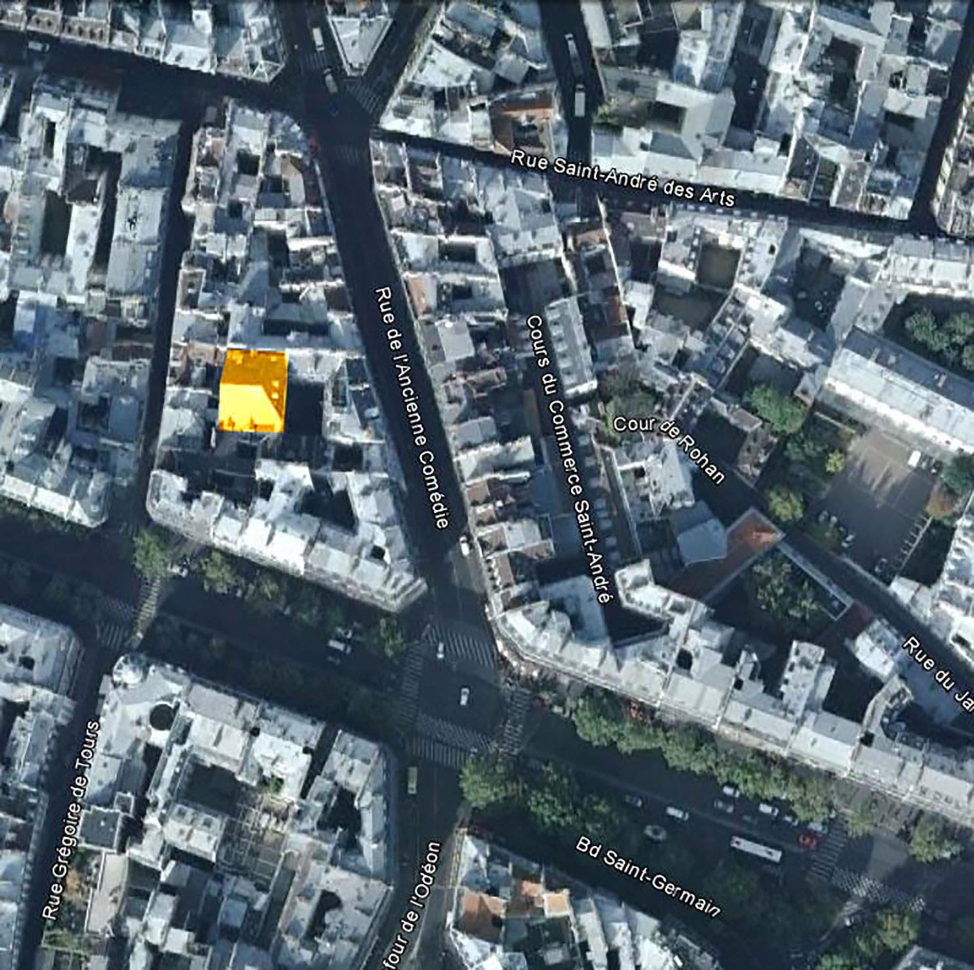 Raf Listowski Atelier d'Architecture bureaux logements transformation bâtiment historique ancienne comédie locaux professionnels paris 6 geste d'or