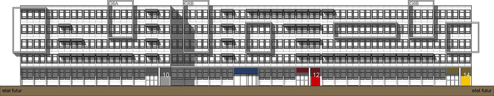 Raf Listowski Atelier d'Architecture Rungis Cité Administrative rénovation architecturale ensemble bâtiments de bureaux G6