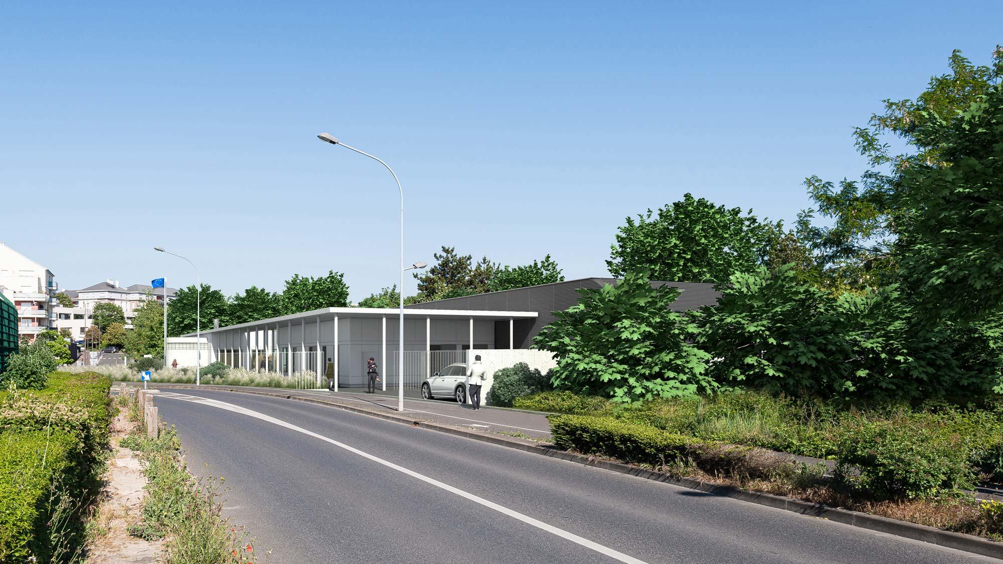 Raf Listowski Atelier d'Architecture data center pmi valenton construction centre de protection maternelle et infantile
