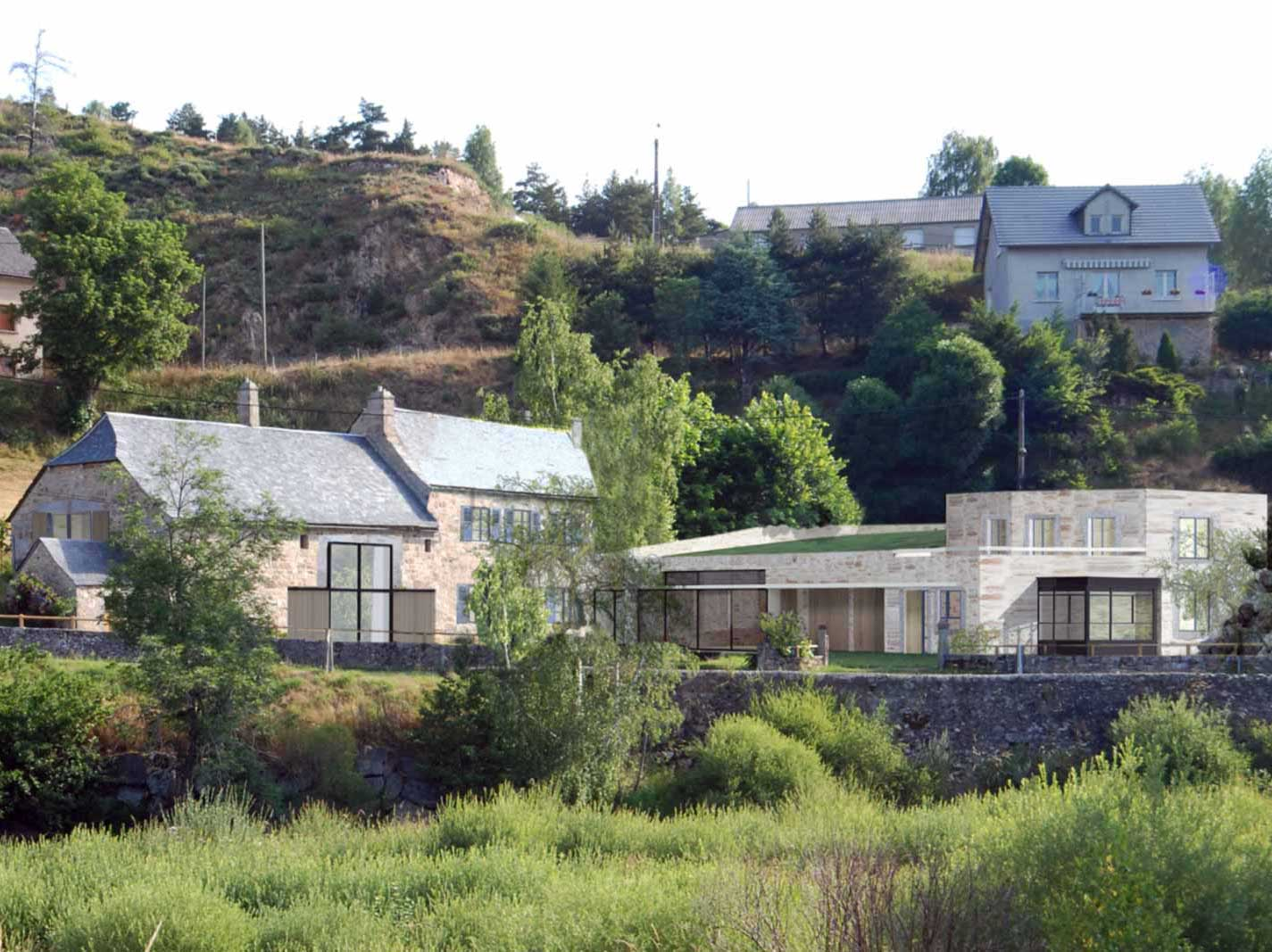 Raf Listowski Atelier d'Architecture transformation maison Saint-Juéry